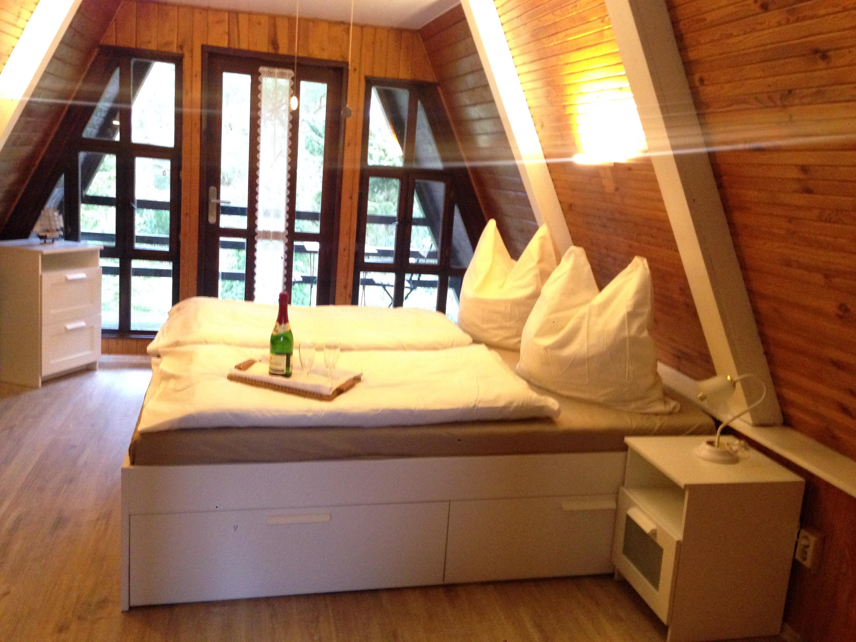 Schlafzimmer - Ostsee Ferienhaus Finnhütte mieten - Nähe Halbinsel ...